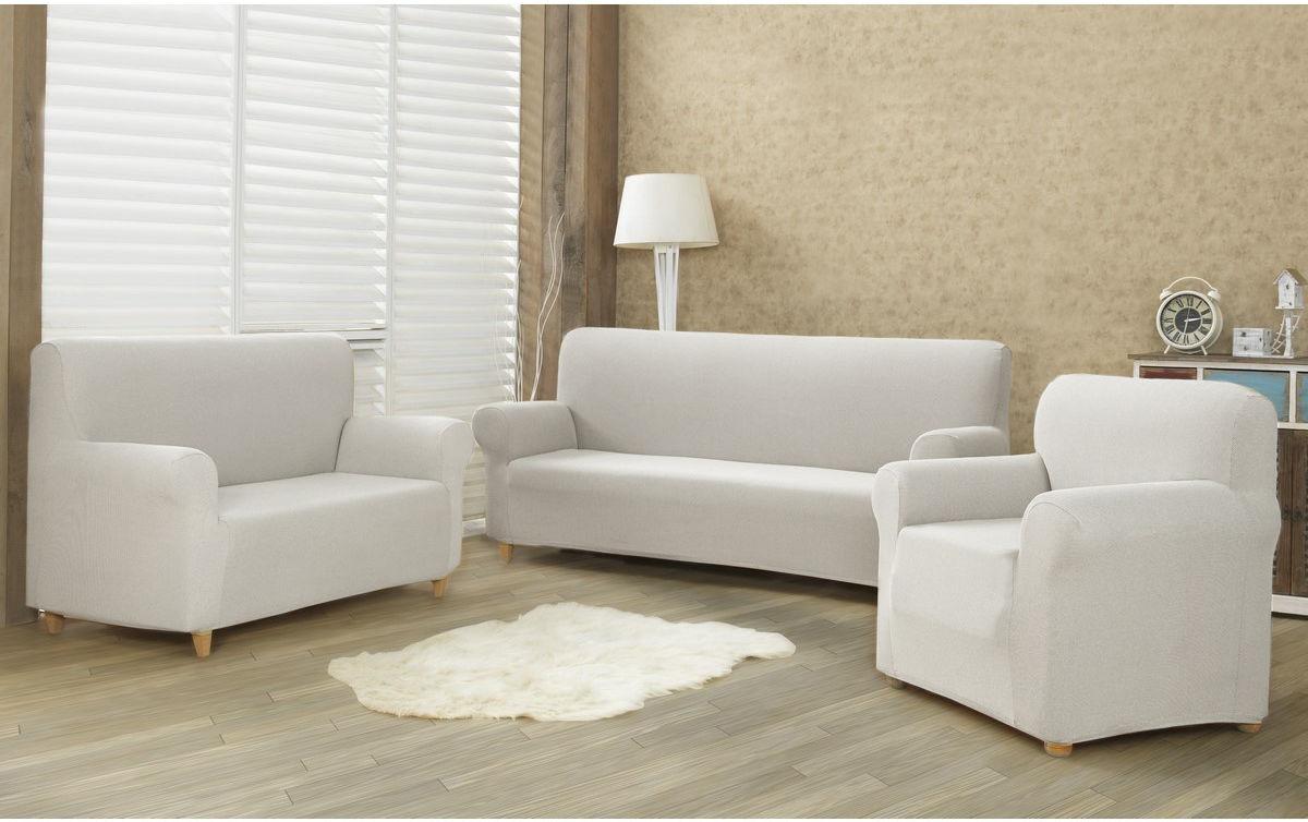 4Home Multielastyczny pokrowiec na kanapę 2-os. Comfort cream, 180 - 220 cm