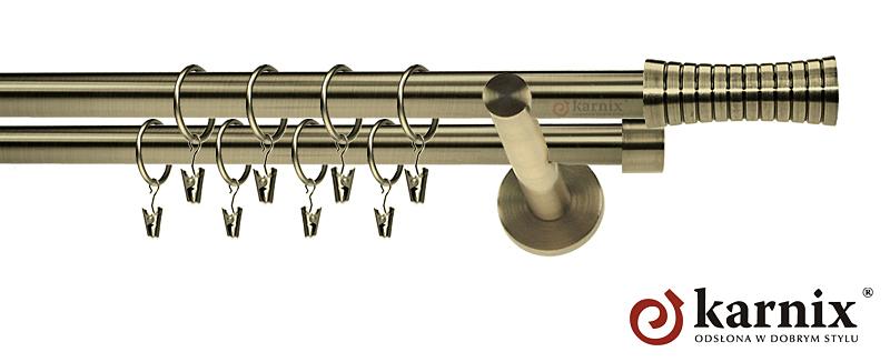 Karnisze nowoczesne NEO podwójny 19/19mm Gao antyk mosiądz