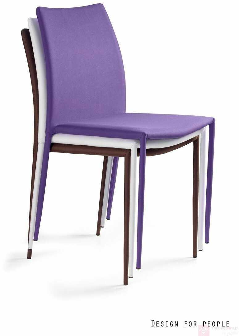 Krzesło DESIGN PVC Unique Fioletowy  RABAT na stronie!