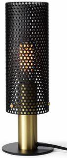 Perfo - black and brass - nowoczesna lampa stołowa