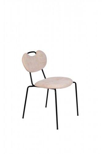 Krzesło Aspen różowe