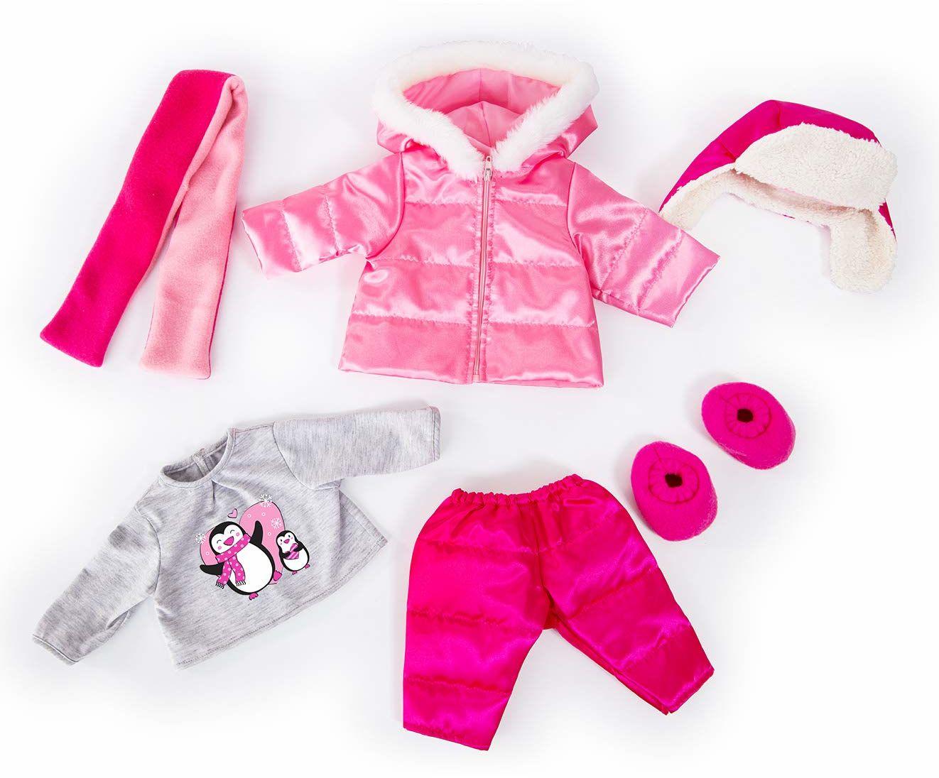 odzież dla lalek, ubrania zimowe, ubrania dla lalek, 40-46 cm, kombinezon narciarski ze spodniami, kurtka, kapelusz, szalik, buty, 84613AA