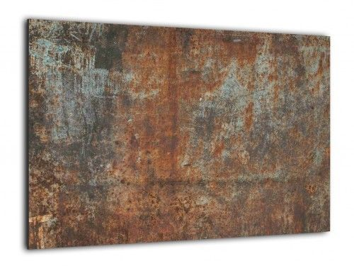Obraz szklany RDZA KOROZJA 60x40cm ozdobna szklana tablica magnetyczna