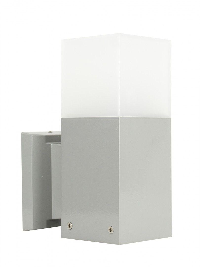 Kinkiet elewacyjny Cube CB-K AL Srebrny IP44 - Su-ma Do -17% rabatu w koszyku i darmowa dostawa od 299zł !