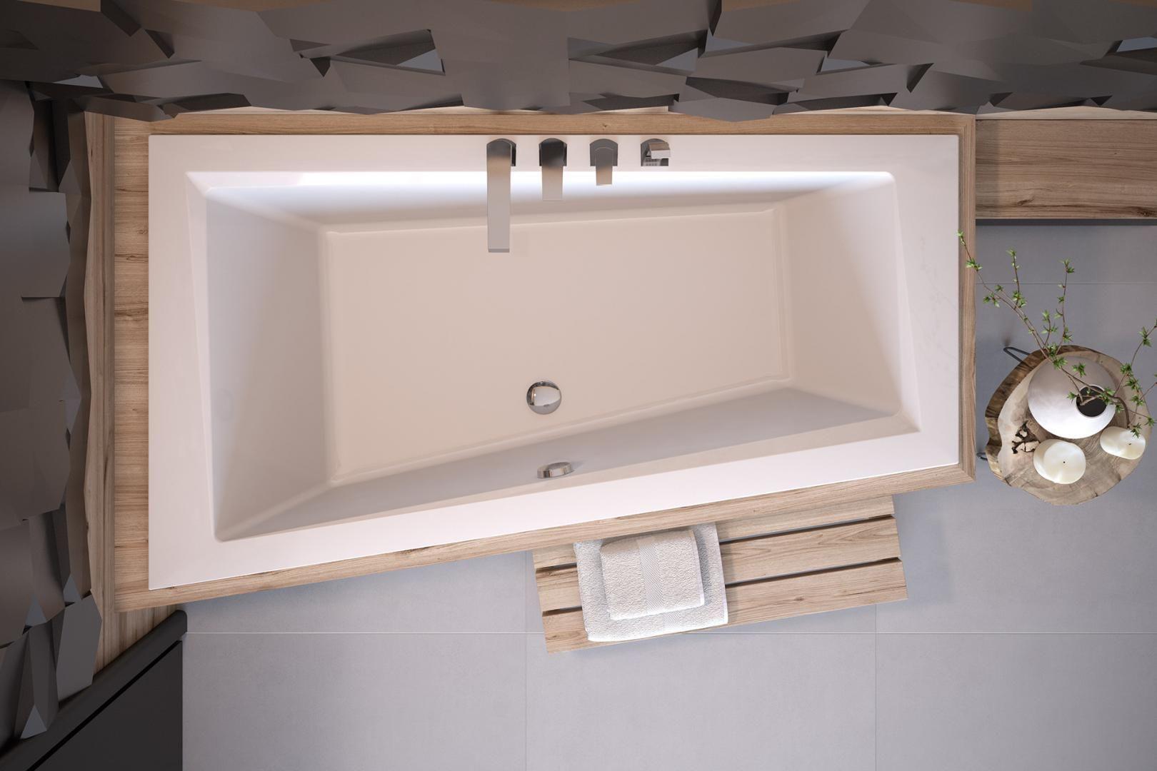 Besco wanna asymetryczna Intima Slim 150 x 85 cm lewa WAIT-150-SL