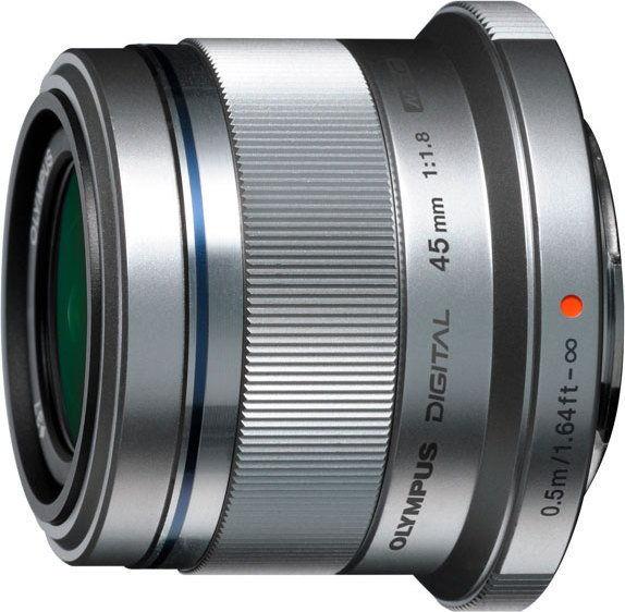 Obiektyw Olympus M. Zuiko Digital 45 mm f/1.8 micro 4/3 silver