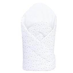 MAMO-TATO Rożek niemowlęcy usztywniony Mini gwiazdki szare na bieli