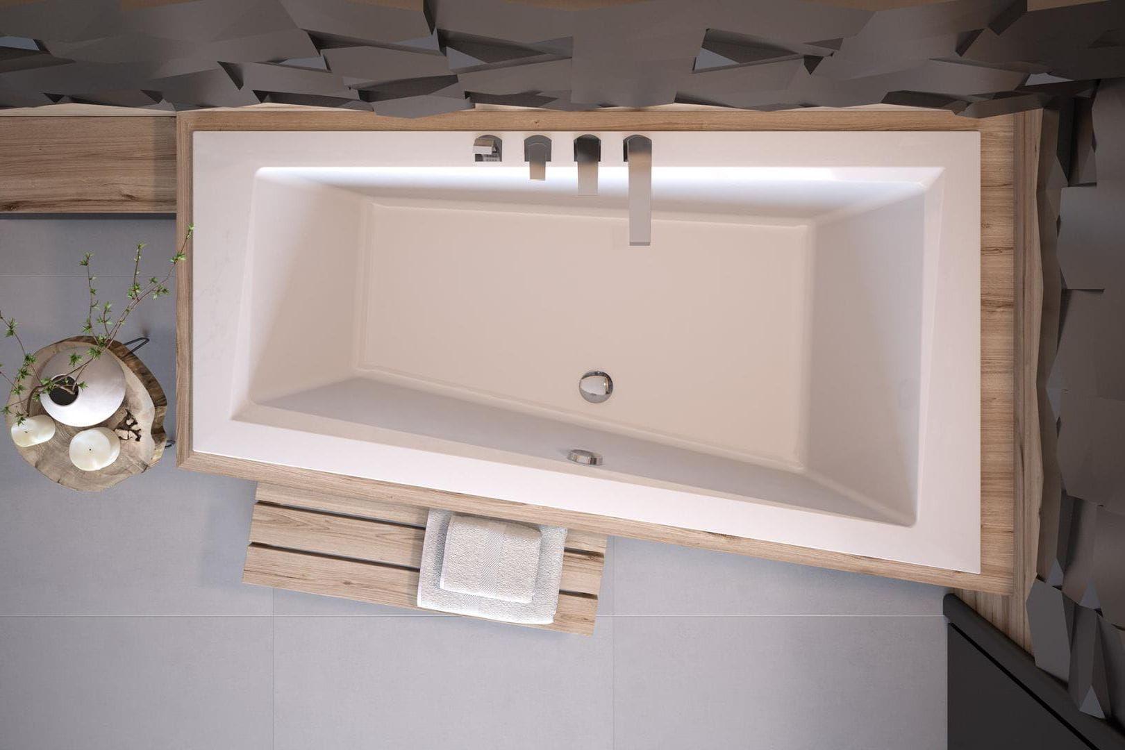 Besco wanna asymetryczna Intima Slim 150 x 85 cm prawa WAIT-150-SP