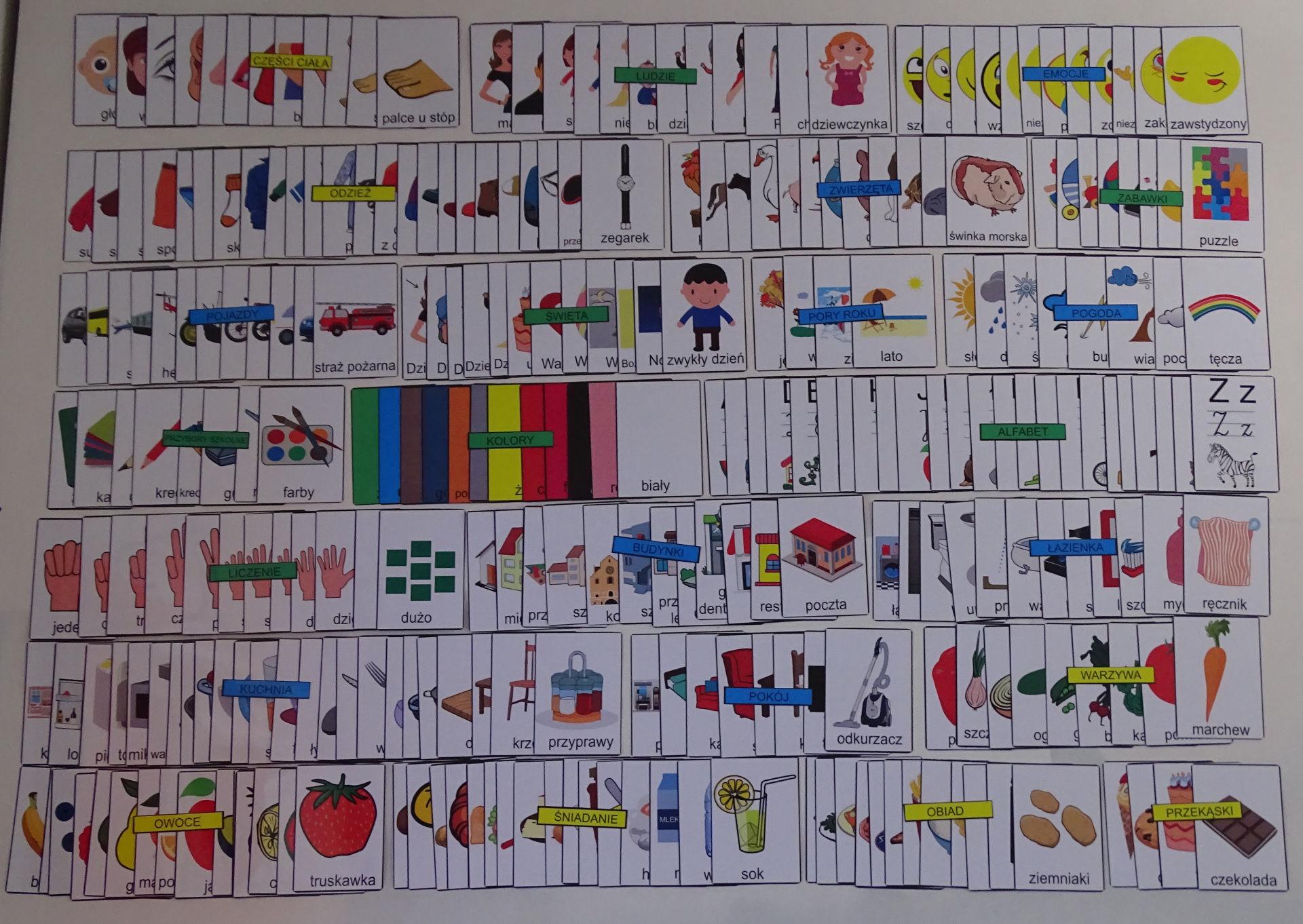 Mega zestaw kart edukacyjnych - czytanie globalne