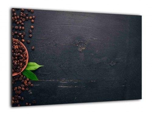 Obraz szklany KAWA ZIARNA KAWY 60x40cm ozdobna szklana tablica magnetyczna