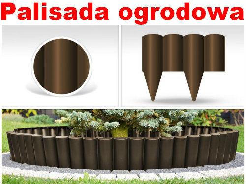 Palisada ogrodowa kolor brązowy PALGARDEN