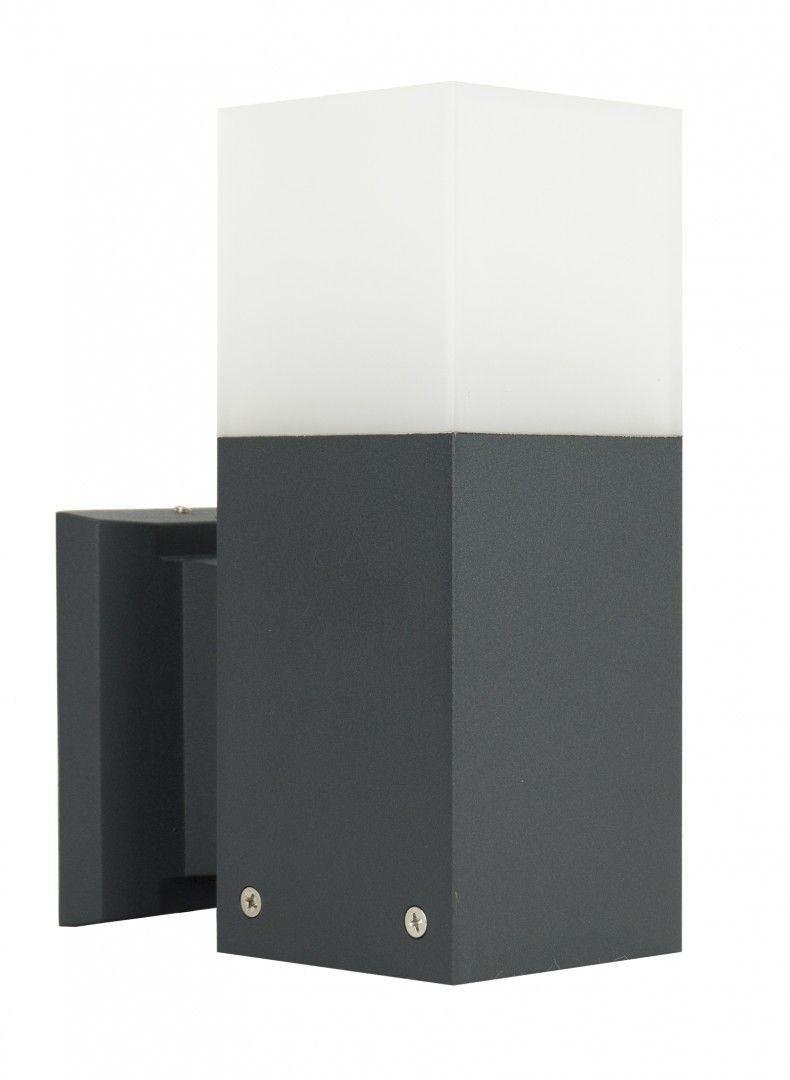 Kinkiet elewacyjny Cube CB-K DG Ciemny popiel IP44 - Su-ma Do -17% rabatu w koszyku i darmowa dostawa od 299zł !