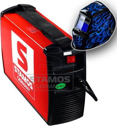 Spawarka MMA - 200 A - 230 V - IGBT - plus Maska spawalnicza - Sub Zero - Easy - Stamos Basic - S-MMA-200-PI - 3 lata gwarancji/wysyłka w 24h