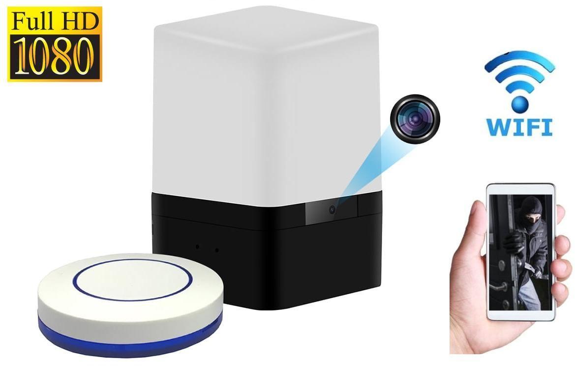 Szpiegowska Kamera FULL HD WiFi/P2P (zasięg cały świat!) Ukryta w Biurkowej Lampce + Zapis...