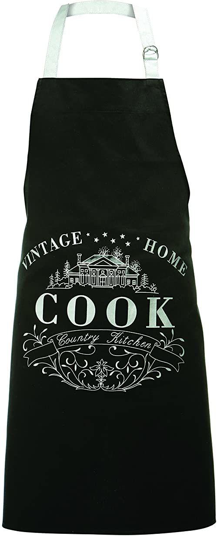 Premier Housewares vintage dom 100% bawełniany fartuch - czarny