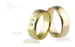 Obrączki ślubne - wzór Au-656