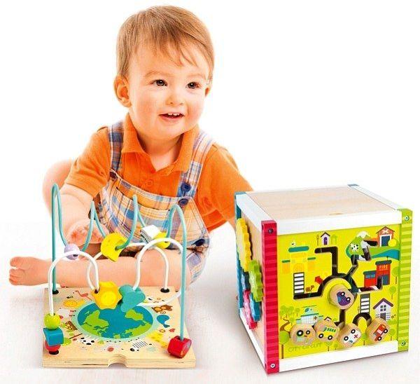 """Drewniana kostka edukacyjna """"Planeta Ziemia"""", zabawki edukacyjne dla dzieci"""