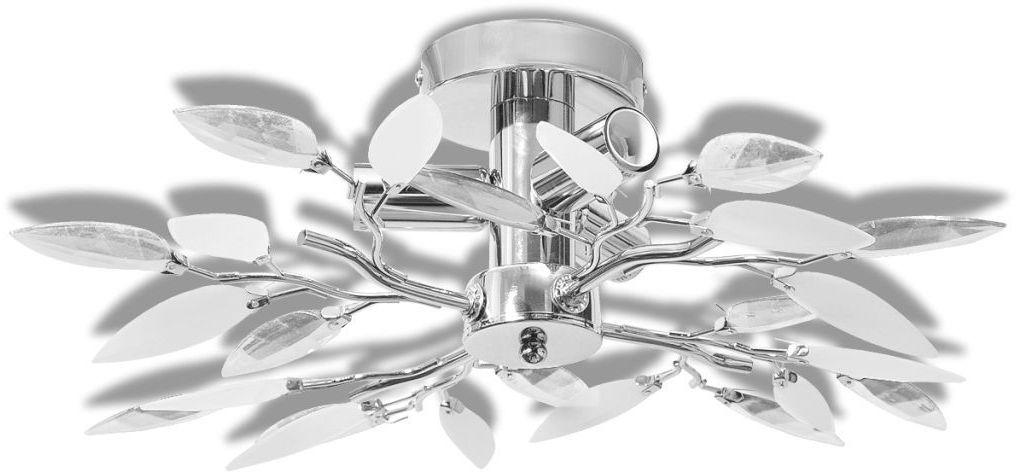 Biała nowoczesna lampa sufitowa z listkami - E974-Melixa