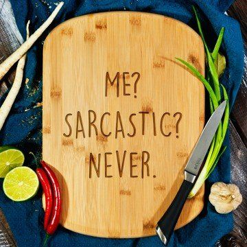 Me sarcastic - deska do krojenia z grawerem