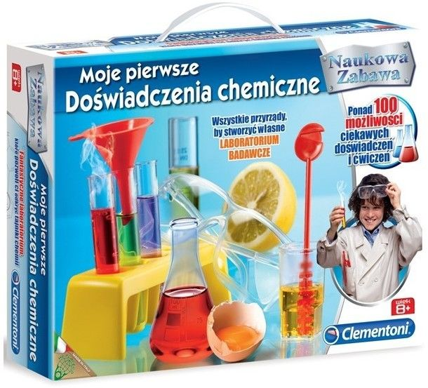 Clementoni - Zestaw edukacyjny - Moje pierwsze doświadczenia chemiczne 60774