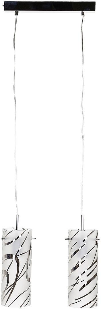 Italux lampa wisząca Halo MDM1850-2 chrom szkło podwójna 33cm