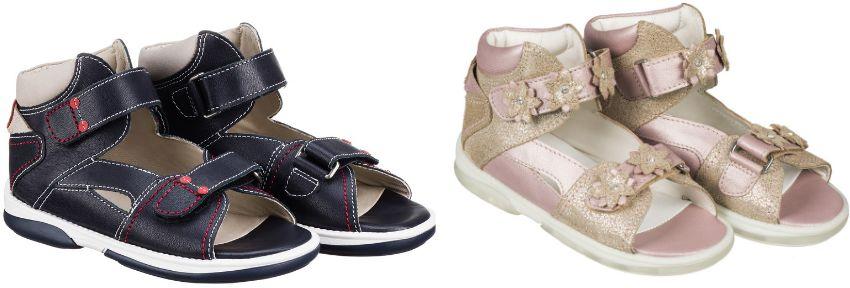Średnio wysokie sandały Memo - BUTY profilaktyczne z podeszwą diagnostyczną (MONACO)