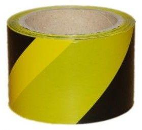 Taśma ostrzegawcza żółto-czarna 120mm x 100m do odgradzania