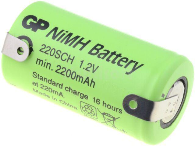 Akumulator Ni-MH SubC 1,2V 2200mAh z blaszkami lutowniczymi