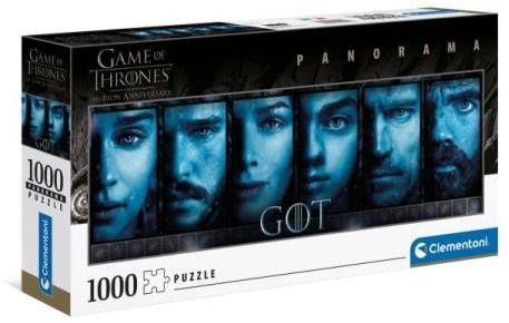 Clementoni Puzzle 1000el panorama Gra o tron. Game of Thrones NETFLIX 39590 (39590 CLEMENTONI)