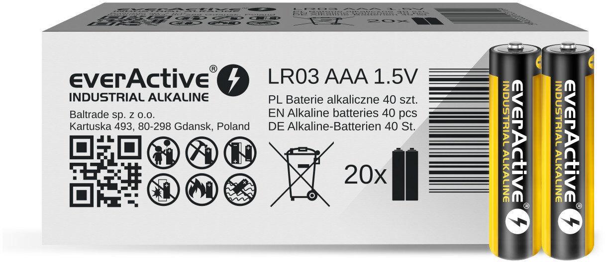 Baterie alkaliczne everActive Industrial LR03 / AAA 40 sztuk