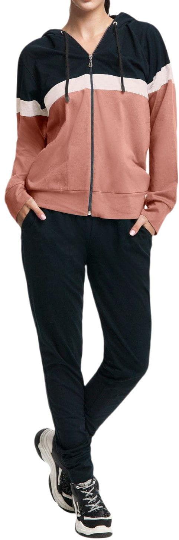 Bawełniany dres damski komplet LUNA 307 Beżowy