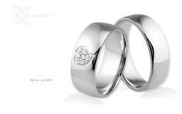Obrączki ślubne - wzór Au-659