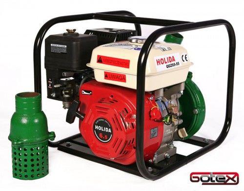 Motopompa, pompa spalinowa ciśnieniowa Holida QGZ65-55 5 BAR deszczownia