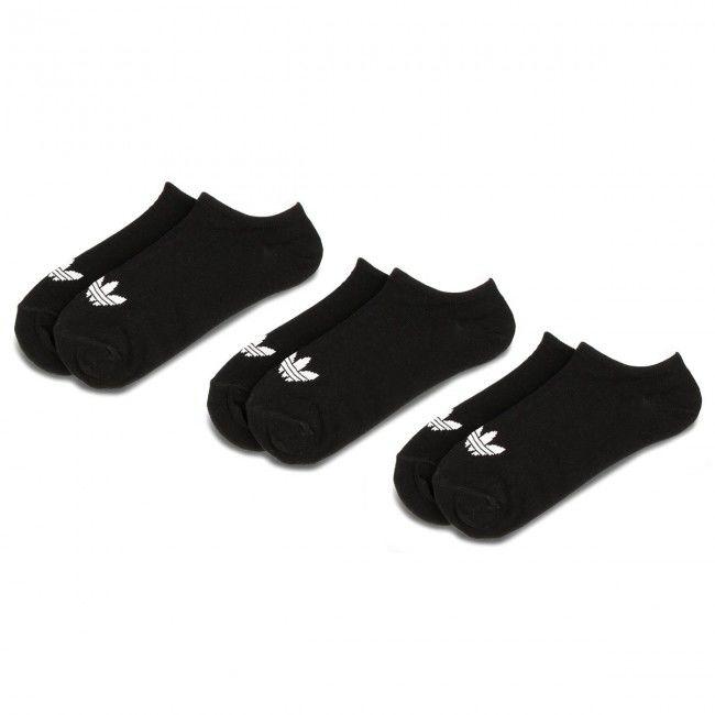 Zestaw 3 par niskich skarpet unisex adidas - Trefoil Liner S20274 Black/Black/White