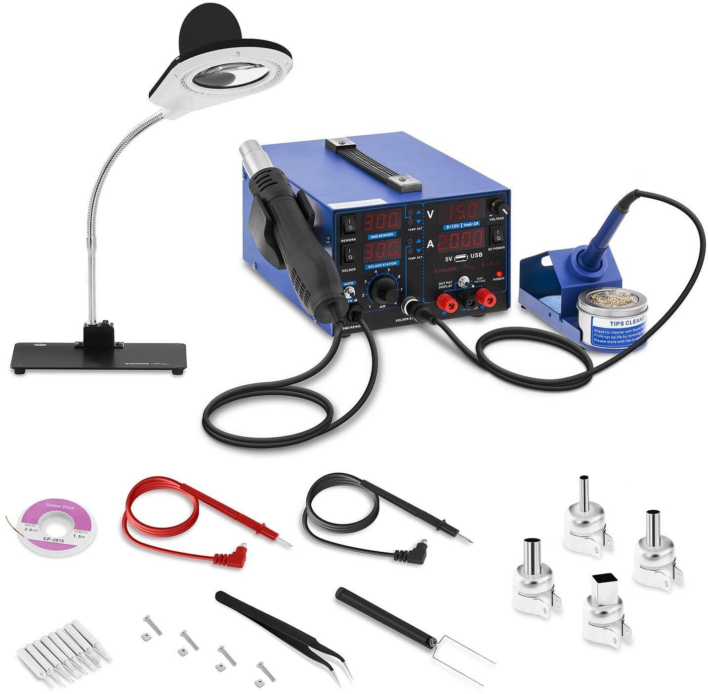 Stacja lutownicza - 3 w 1 - USB - lampa powiększająca - Stamos Soldering - S-LS-22 - 3 lata gwarancji/wysyłka w 24h