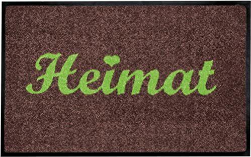 """Shoe-Max Everclean YH 101538 W wycieraczka 44 x 75 cm """"Heimat"""" (dom) zawsze zielona/brązowa"""