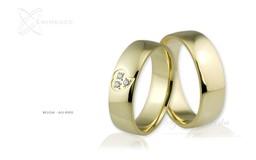 Obrączki ślubne - wzór Au-660