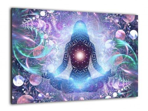 Obraz szklany JOGA ZEN LOTOS 90x60cm ozdobna szklana tablica magnetyczna
