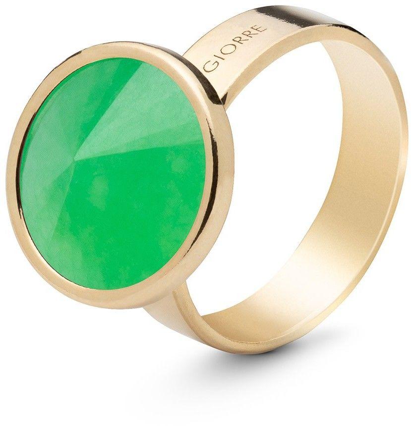 Srebrny pierścionek kamień naturalny chryzopraz, srebro 925 : Kamienie naturalne - kolor - chryzopraz zielony ciemny, ROZMIAR PIERŚCIONKA - 11 UK:L 16,00 MM, Srebro - kolor pokrycia - Pokrycie żółt
