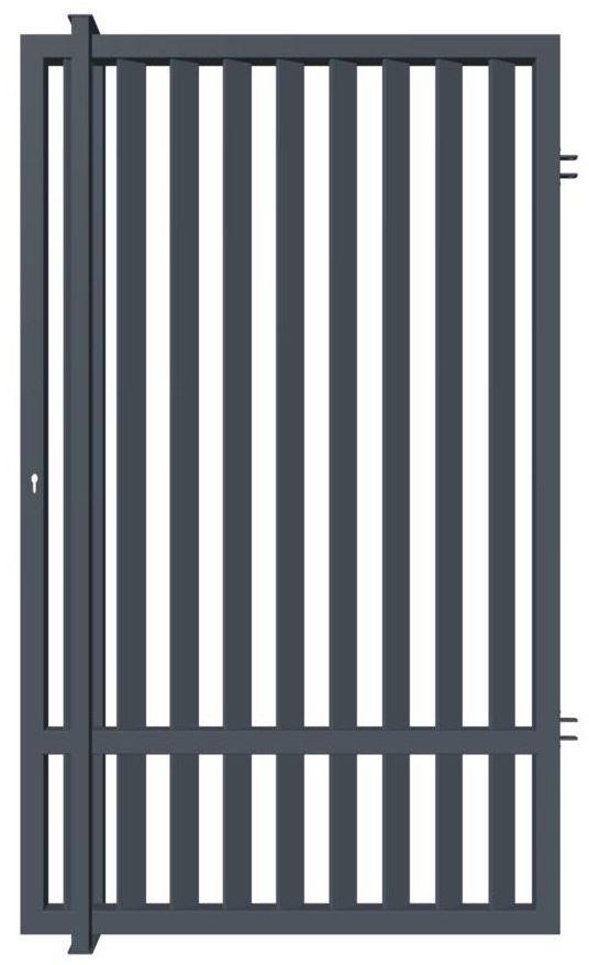 Furtka ogrodzeniowa AGAT uniwersalna 94 cm z elektrozaczepem POLARGOS