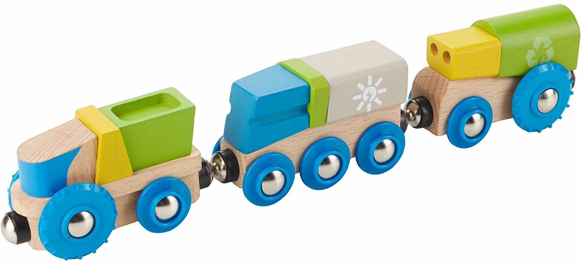 EverEarth Pociąg recyklingowy i 2 samochody EE33656