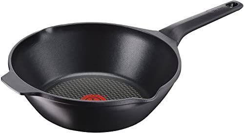 Tefal Aroma E21519 patelnia typu wok 28 cm, aluminium, czarna