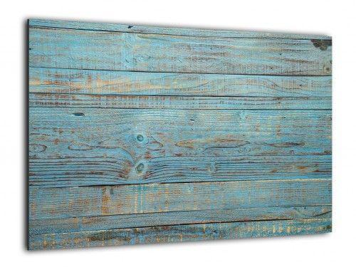 Obraz szklany NIEBIESKA DESKA RETRO VINTAGE 90x60cm ozdobna szklana tablica magnetyczna