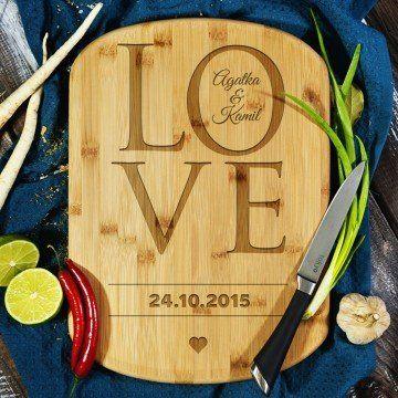Love together - deska do krojenia z grawerem