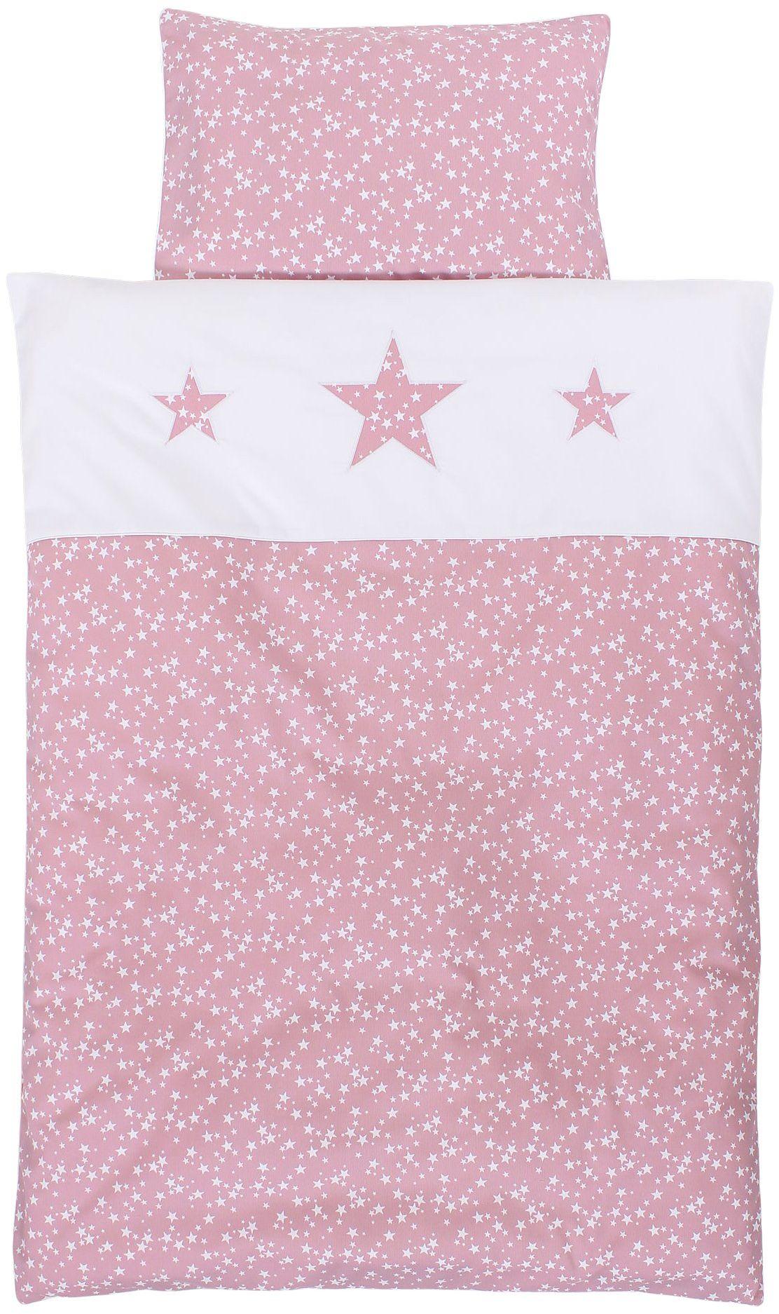 Babybay Piqué pościel do łóżeczka dziecięcego, jagody gwiazd, biała, wielokolorowe, jeden rozmiar