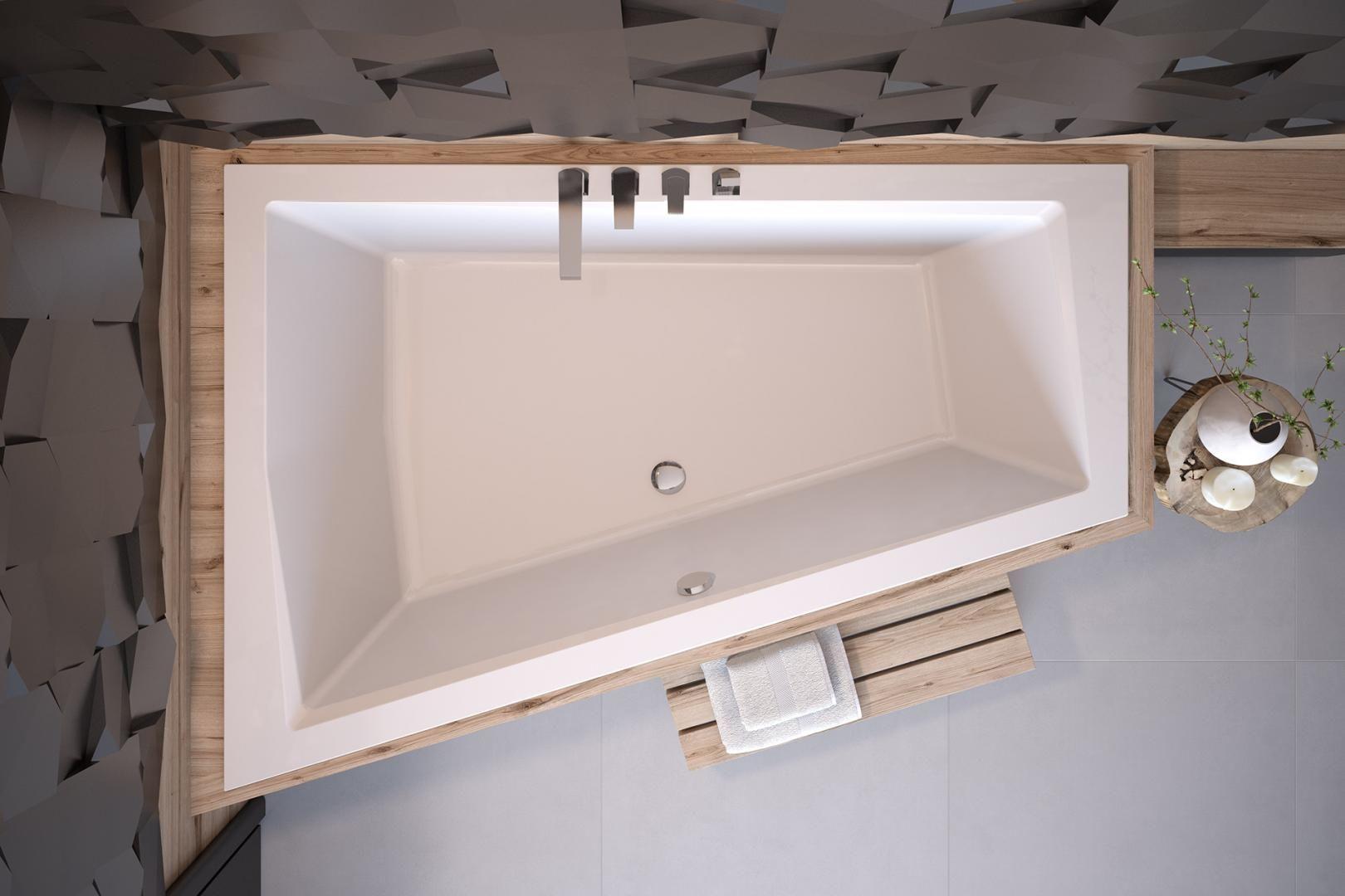 Besco wanna asymetryczna Intima Duo Slim 180 x 125 cm lewa