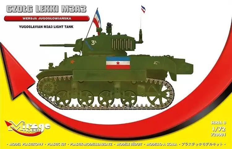 Jugosłowiański czołg lekki M3A3 - Mirage Hobby