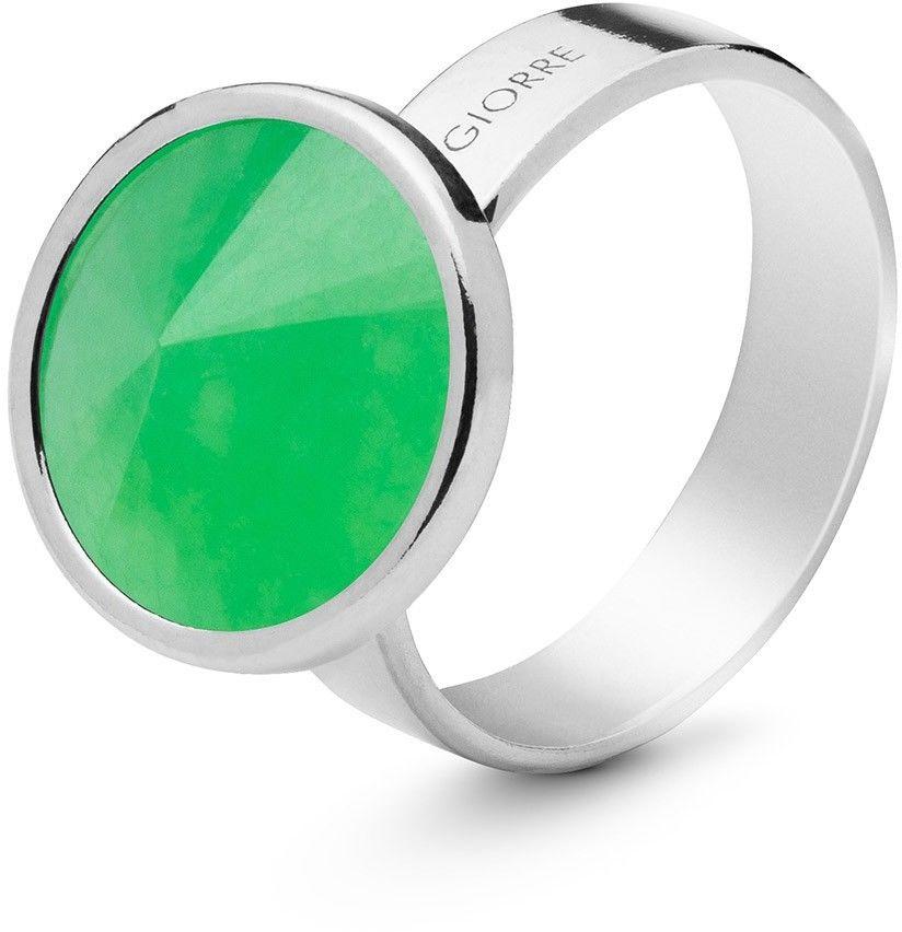 Srebrny pierścionek kamień naturalny chryzopraz, srebro 925 : Kamienie naturalne - kolor - chryzopraz zielony ciemny, ROZMIAR PIERŚCIONKA - 11 UK:L 16,00 MM, Srebro - kolor pokrycia - Pokrycie plat