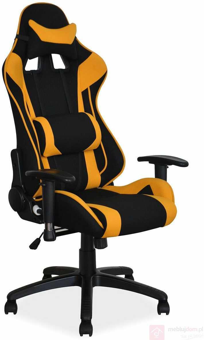 KUPON 10% NA STRONIE  Fotel gamingowy VIPER Signal Czarno-żółty