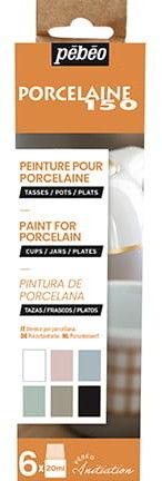 Farby do Porcelany Kredowe Pebeo Porcelaine 150 kpl. 6X20 ml